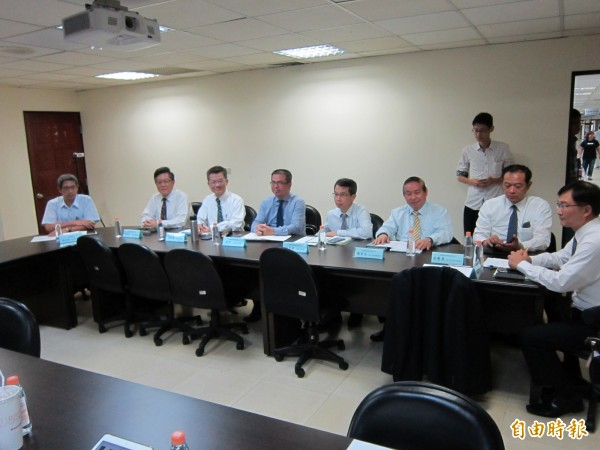 長榮航空協商派出多位副總級高階主管。(記者謝武雄攝)