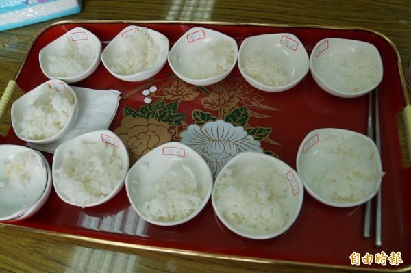 參與比賽的米,煮後粒粒分明,香Q好滋味。(記者詹士弘攝)