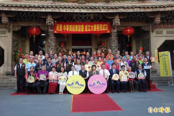 中華媽祖聯誼會成立大會,總統府秘書長陳菊也出席。(記者劉曉欣攝)