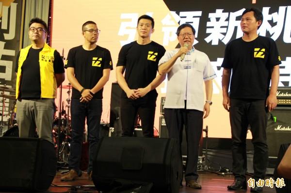 桃園市長鄭文燦應邀出席時代力量募款餐會。(記者許倬勛攝)