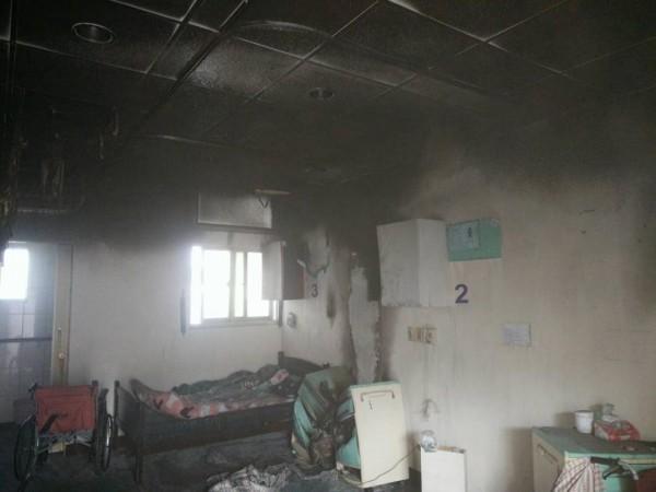 養護中心發生火警,起火點疑在105號病房。(澎湖縣政府消防局提供)