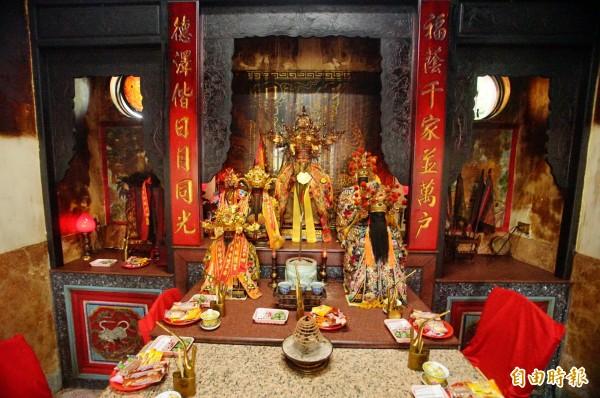 屏東南州大埔福安宮土地公生日提前到農曆八月初二。(記者陳彥廷攝)