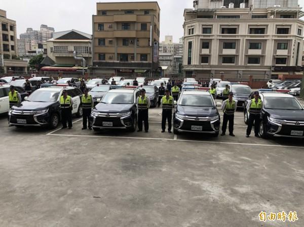 彰化縣警察局今年斥資2510萬元,添購142輛巡邏、偵防警車和機車。(記者張聰秋攝)