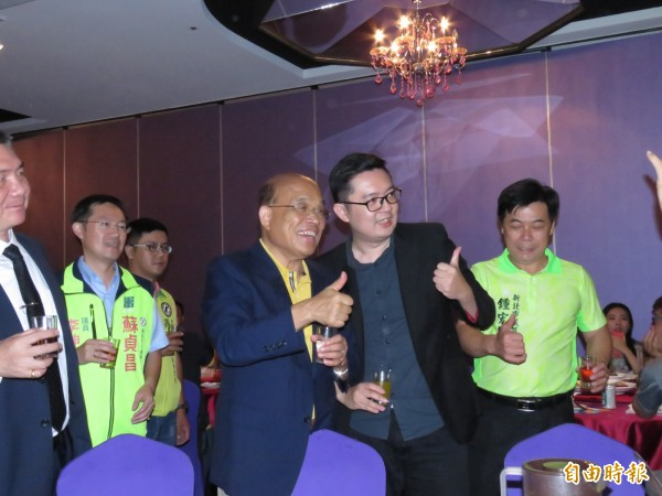 民進黨新北市長參選人蘇貞昌。(記者陳心瑜攝)