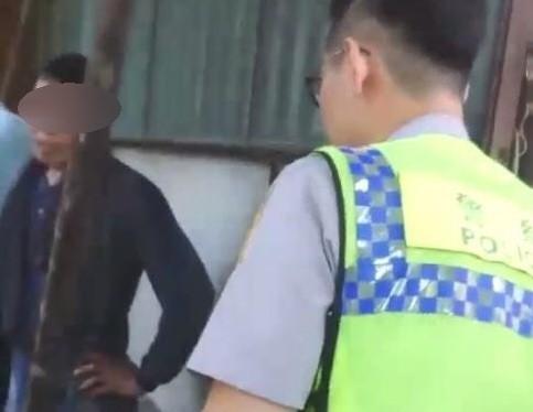 警方在古厝內逮到嫌犯正在犯案。(記者葉永騫翻攝)