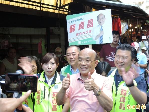 蘇貞昌被批以仇恨式言論選舉,讓他氣到想罵人。(記者翁聿煌攝)