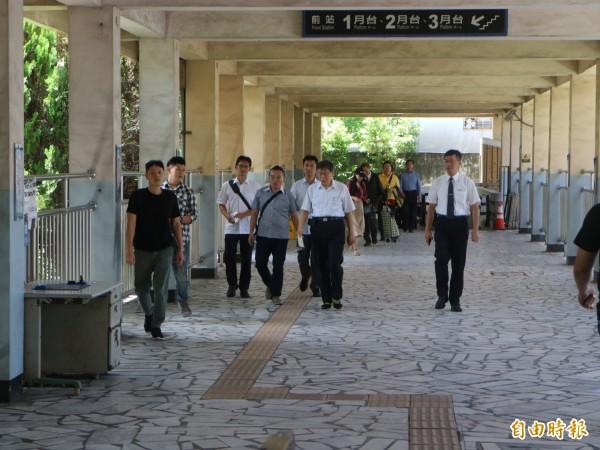 台北市長柯文哲到花蓮慈濟大學演講。(記者王錦義攝)