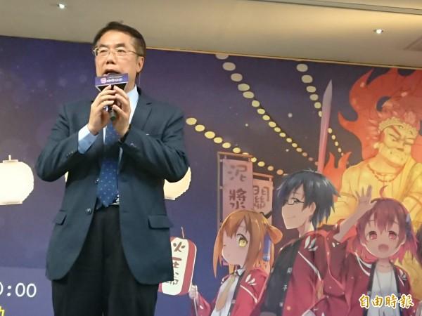 南市立委黃偉哲參加關子嶺溫泉美食節宣傳活動。(記者洪瑞琴攝)