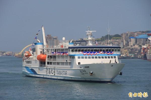 台馬之星今年9月底故障,停靠在基隆港等候從國外進口的備料更換。(資料照)