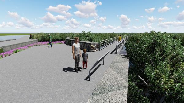 「濕地海空步道」為芳苑觀光帶來效益。(記者顏宏駿翻攝)
