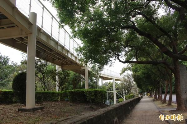 八卦山天空步道人氣冷清,遭諷為「蚊子橋」。(記者張聰秋攝)