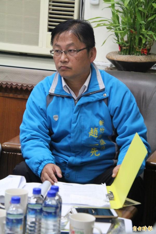 新竹县议员赵一先,这次以无党籍身分争取连任。(资料照,记者黄美珠摄)
