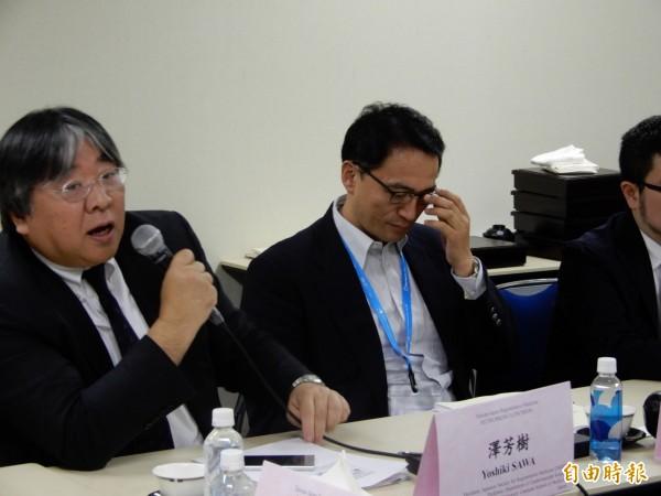 日本醫學界代表性人物「日本再生醫學學會」理事長澤芳樹也出席台日專家交流會。(記者林翠儀攝)