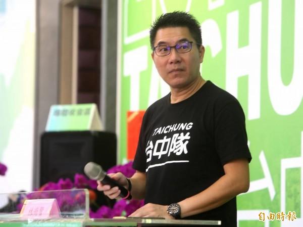 盧秀燕民調領先林佳龍,林總部發言人林尚賢表示,國民黨將民調當文宣。(林佳龍競選總部提供)