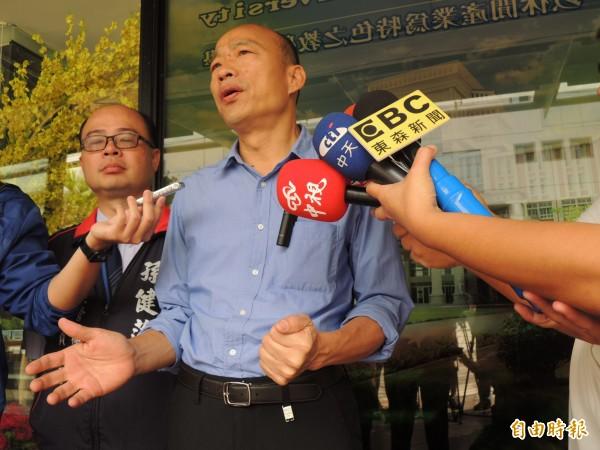 韓國瑜強調一定支持地方建設,當初立院反對前瞻部分主要在財務。(記者王榮祥攝)