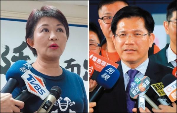 台灣世代智庫公布台中市長最新民調,林佳龍領先盧秀燕10.3%。(資料照)