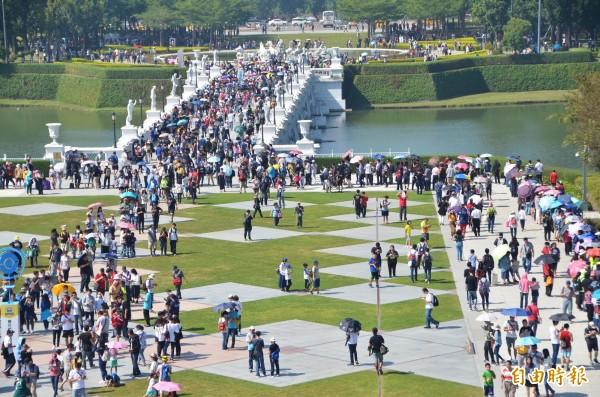 這次的寶可夢活動,主場地奇美博物館累計逾56萬人次參與。(記者吳俊鋒攝)