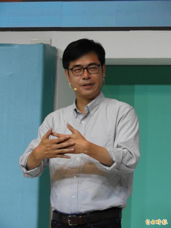 民進黨高雄市長候選人陳其邁。(記者葛祐豪攝)