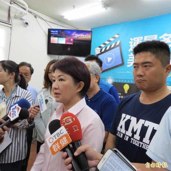 台中花博正在开展,卢秀燕表示,有人反映花卉太少,当选会增加花卉数量。(记者苏金凤摄)
