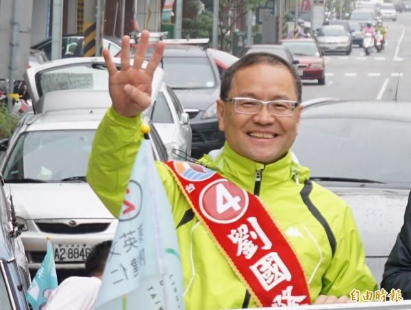 北屯、北區立委補選,劉國隆表達參選意願。(記者蔡淑媛攝)