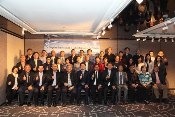 菲律賓天主教大學協會近日來訪,教育部今年11月間首派教育秘書駐菲。(圖由教育部提供)