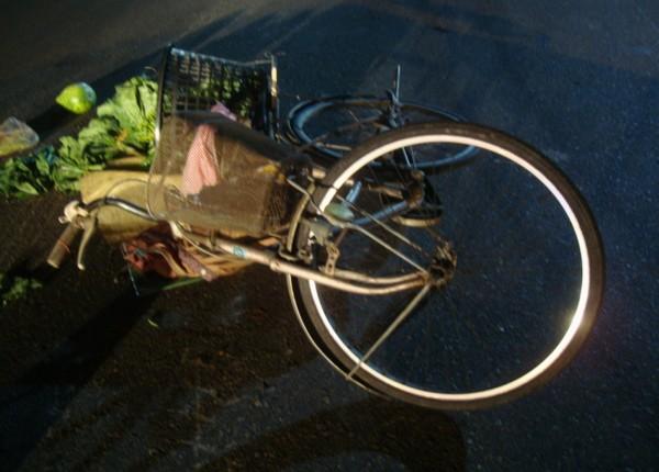 79歲葉翁菜園開心摘菜,不料返家途中遭撞死,蔬菜散落滿地。(記者湯世名翻攝)