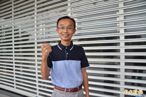 為環保而戰的陳永和,希望準市長黃偉哲未來在行政院會能要求中央撤銷掩埋場設置案。(記者吳俊鋒攝)