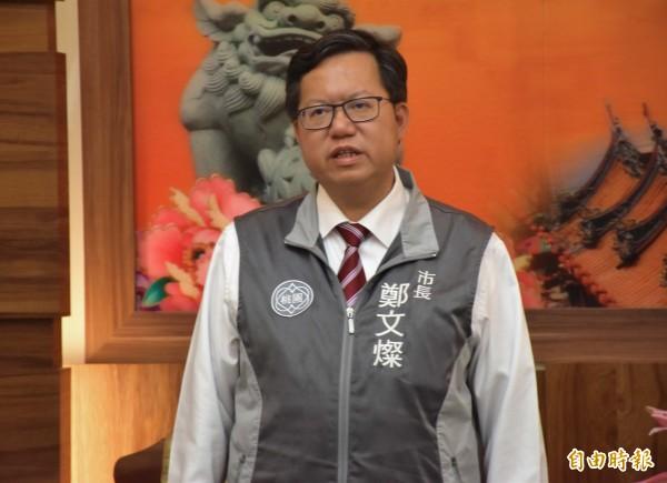鄭文燦預估這次選舉能贏20萬票,開票結果少了約5萬票。(記者李容萍攝)