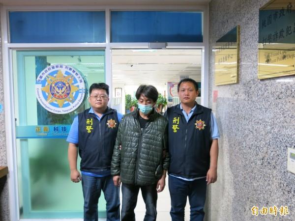37歲方姓男子因毒品案被台南地檢署通緝,日前北漂到桃園市楊梅區被警方逮捕。(記者魏瑾筠攝)
