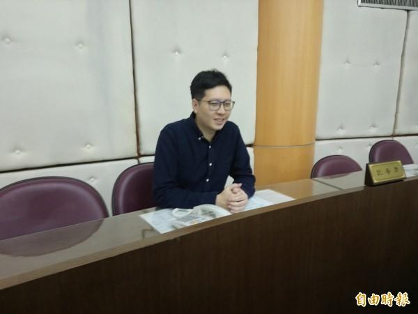 對於又被移送紀律委員會,綠黨議員王浩宇國民黨的做法太誇張、太over。(記者謝武雄攝)