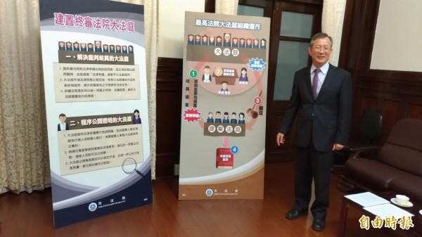 司法院秘書長呂太郎表示,判例將正式廢除,影響深遠。(記者吳政峰攝)