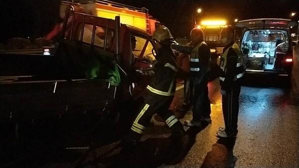 國道1號發生重大車禍。(記者鄭名翔翻攝)