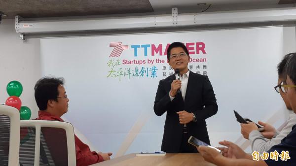 台东县长黄健庭今天说卸任后会常常逛台东美食。(记者黄明堂摄)