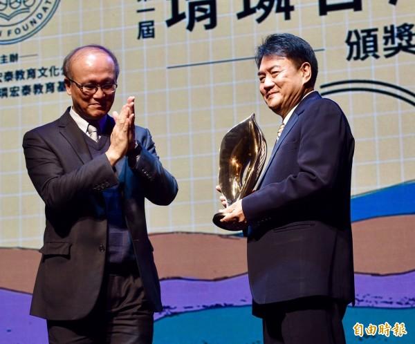 第一屆「堉璘台灣奉獻獎」得獎人、晨曦會總幹事劉民和。(記者羅沛德攝)