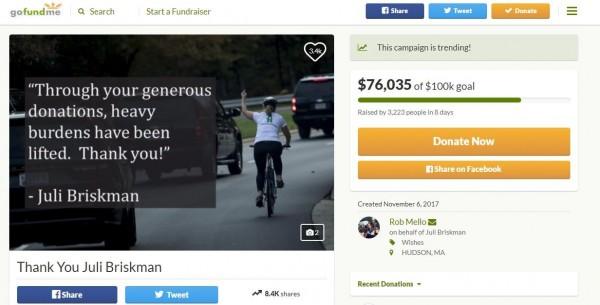 募資專案的累計金額將近8萬美元。(圖擷取自gofundme)
