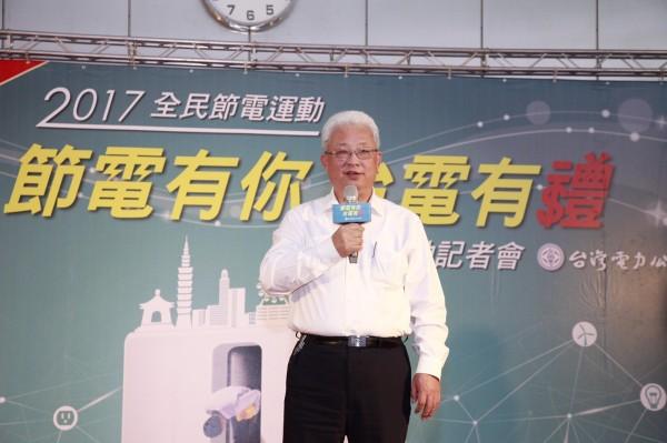 台電董事長朱文成面對今年供電狀況時表示,將以戒慎恐懼的心情處理。(台電提供)