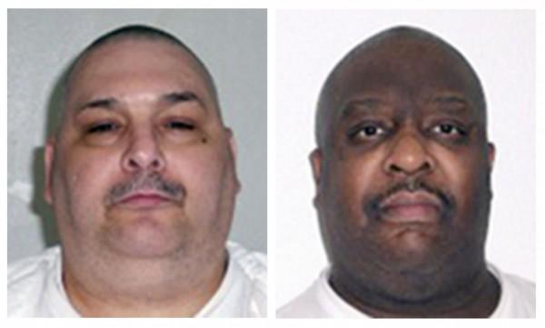 瓊斯(Jack Harold Jones,左)和威廉斯(Marcel W. Williams,右)都犯下殺人案被判死刑,阿肯色州政府預計在下星期一(24日)對他們執行死刑。(美聯社)