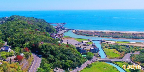 The junction of the Jinbaoli and Yuantan rivers is pictured on Friday in New Taipei City.