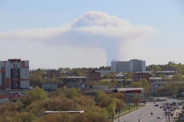 從遠處也可看到爆炸產生的濃煙。(擷取自推特)