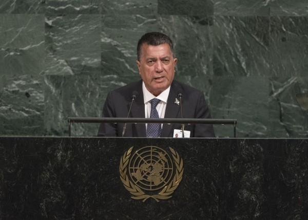 馬紹爾群島共和國外長席爾克在發表演說時表示,聯合國將台灣排除在聯合國及相關機構外,已經對台灣政府與人民追求基本參與的權利造成挑戰。(中央社)