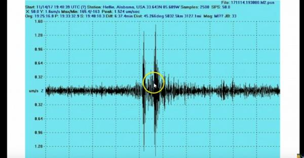 美國國家航空暨太空總署(NASA)本月初在阿拉巴馬州測得巨大聲響,但原因不明。(取自YouTube)