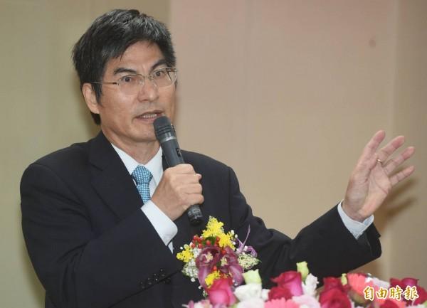 科技部長陳良基表示,今年預計送 50位博士到矽谷交流。(記者廖振輝攝)