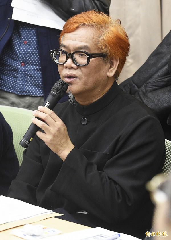國立台灣師大美術系系主任莊連東。(記者陳志曲攝)