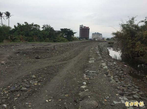 馬亨亨大道連結海濱公園的路預計3月底開通。(記者張存薇攝)
