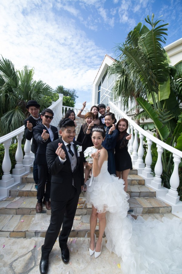 根據沖繩縣的資料,最多到沖繩舉辦婚禮的外國人就是台灣跟香港,作家史丹利與藝人GIGI就是選擇在沖繩結婚。(華德培婚禮提供)