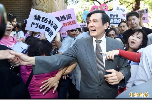 國民黨前主席馬英九因涉賤賣三中黨產被起訴,過去檢方從未掌握三中案「錄音光碟」,直到北檢重啟調查,這才搜扣到足以影響本案會否成罪的關鍵物證。(記者羅沛德攝)