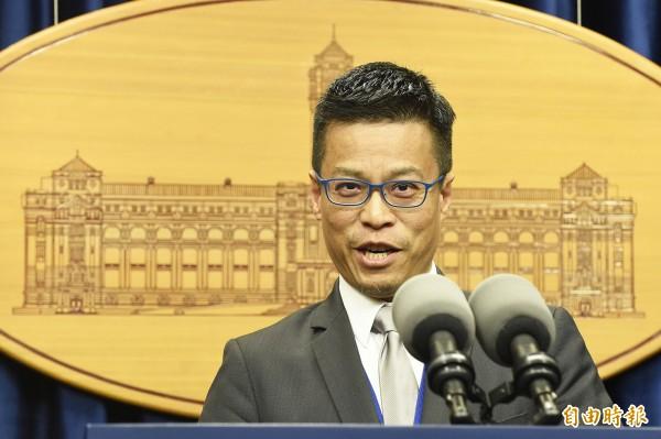 美眾議院力挺台灣參加世衛,總統府:由衷感謝。圖為總統府發言人黃重諺代表說明。(資料照)