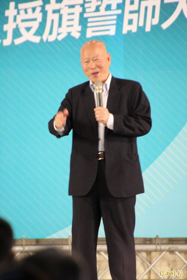 民進黨前主席許信良說,民進黨是改革「惜百姓」。(記者黃美珠攝)