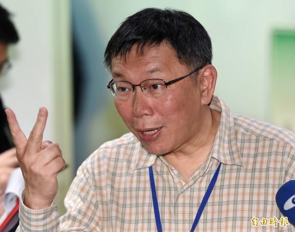 網友呼聲最高的是台北市長柯文哲。(資料照,記者廖振輝攝)