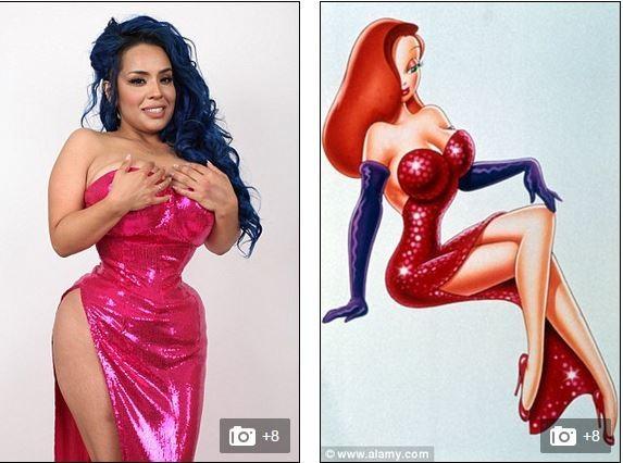 凱莉表示,自己很嚮往卡通人物的身材,所以才會把腰圍縮小。(圖擷取自每日郵報)